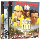 L'equipe : Tour De France 100 Ans 1903-2003 En 3 Tomes : 1903-1939 / 1947-1977 / 1978-2003 de Collectif