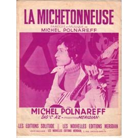 Partition Michel Polnareff: La Michetonneuse, 4p, 1969 Dis'c AZ, paroles & musique Michel Polnareff