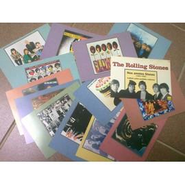 the rolling stones - nos années stones (1963-1995) - set 14 cartes postales