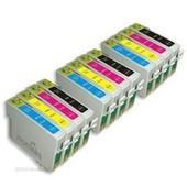 10x Cartouches Compatibles Epson Stylus Sx125 S22 Sx130(T1281-T1282-T1283-T1284)