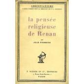 La Pensee Religieuse De Renan de jean pommier