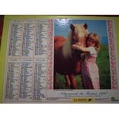 Almanach Du Facteur 1997 Fillette Et Chien Poney Shetland - Vosges N�88 Oller - La Poste