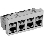 Support 4 rj45 cat 6a stp equipe