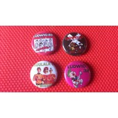 Lot De 4 Badges 25 Mm Du Groupe Ludwig Von 88