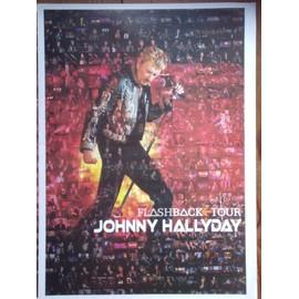 Johnny Hallyday affiche 61x82 Flashback tour