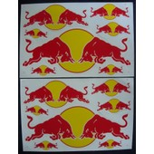 Lot 2 Planches Autocollantes Stickers ( Style Monster Energy ) Torro Rosso