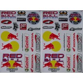 Lot 2 Planches Autocollantes Stickers ( Style Monster Energy ) Torro Rosso Castro Honda