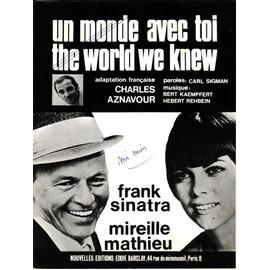 """partition Mireille Mathieu et Frank Sinatra """"un monde avec toi"""""""