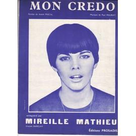 """partition Mireille Mathieu """"Mon Credo"""""""