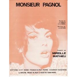 """partition Mireille Mathieu """"Monsieur Pagnol"""""""