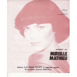 """partition Mireille Mathieu """"Raconte moi"""""""