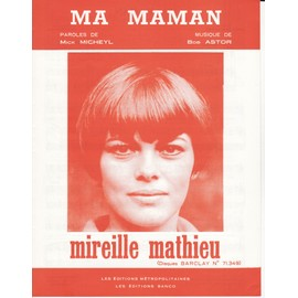 "partition Mireille Mathieu ""Ma Maman"""