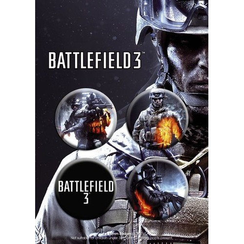 Plaquette de 4 badges battlefield 3