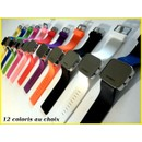 Montre Fashion � Led, Led Watch Miroir Bracelet Silicone 12 Color
