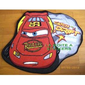 Cars Flash Mc Queen - Disney - Joli Tapis De Chambre Descente De Lit Decoration Enfants