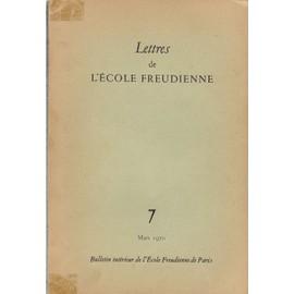 Lettres De L'ecole Freudienne De Paris N� 7