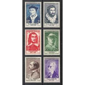 France, 1956, Célébrités & Personnages Célébres Du 15ème Au 20ème Siècles, N°1066 À 1071, Neufs.