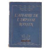 L'affaire De L'impasse Ronsin de A Lanoux