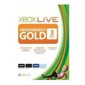 Microsoft Xbox Live Gold Subscription Card - Xbox 360 Licence D'abonnement ( 3 Mois ) - 1 Utilisateur - Fran�ais