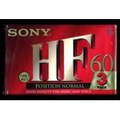 Sony HF 60 - Pack de 3 K7 audio vierges (Type I,IEC I) position normale