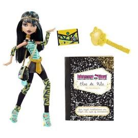 Poup�e Monster High Cleo De Nile Avec Son Journal Intime Et Son Fid�le Animal
