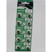 10 piles bouton AG3 alcaline CELL LR41 LR192 1.55V
