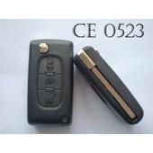 Coque T�l�commande Plip Bouton Phare Citroen C4 Picasso Ce0523 + Cle Sans Rainure