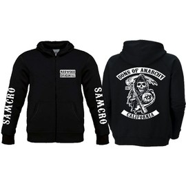 Veste Zip� Sons Of Anarchy Sweat Adulte Neuf