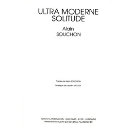 ultra moderne solitude partition piano chant