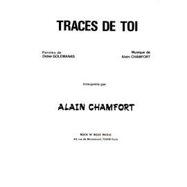 TRACES DE TOI ,ALAIN CHAMFORT ,PARTITION PIANO