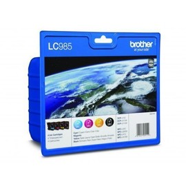 Brother Lc985 - Lot De 4 Cartouches (Bk+M+C+Y)