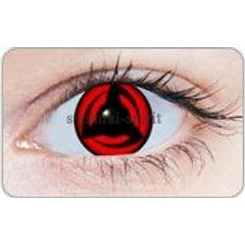 Lentille Contact Cosplay Sharingan Naruto Kakashi Authentique 365 Jrs 1 An X 1