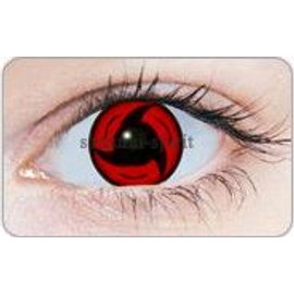 Paire Lentilles Contact Cosplay Sharingan Sasuke / Itachi Annuelle 1 An