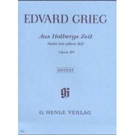 Aus Holbergs Zeit - Suite im alten Stil Opus 40 Klavier