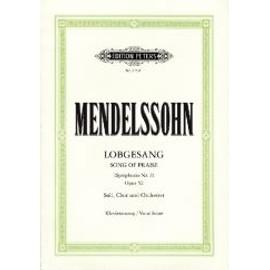 Symphony Nr. 2 (Lobgesang) B-Dur Opus 52 (Eine Symphonie-Kantate) Klavierauszug - Soli, Gemischter Chor, Klavier