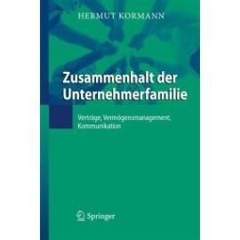 Zusammenhalt der Unternehmerfamilie - Hermut Kormann
