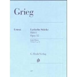 Lyrische Stücke Opus 12 (Heft I) Klavier