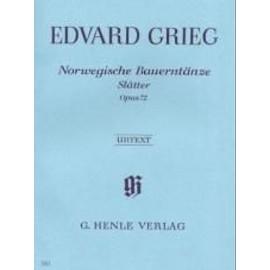 Norwegische Bauerntänze, Slåtter Opus 72 Klavier