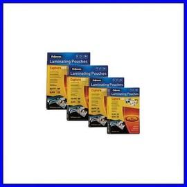 Fellowes Laminating Pouches Capture 125 Micron - 125 Microns Pack De 100 - Brillant - 60 X 90 Mm Pochettes Plastifi�es