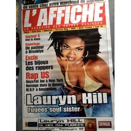 Poster Lauryn Hill en couverture du mag L'Affiche, 1998