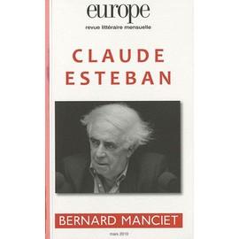 Europe N� 971/Mars 2010 - Claude Esteban - Bernard Manciet