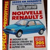 L'auto Journal 7 1984 Renault 5 Jaguar Xj40 Citroen Bx Peugeot 205 Alpine Gta