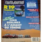 L'auto Journal 8 1989 Renault 19 Porsche 911 Nissan Prairie Prototypes Escort Metro Bmw