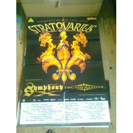 Stratovarius + Symphony X + Thunderstone - Elements Tour 2003 - Affiche concert (80x60)