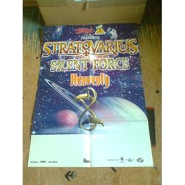 Stratovarius + Silent Force + Heavenly - Affiche de la tournée française 2000 (80x60)