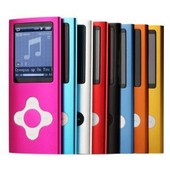 Baladeur MP3 MP4 - 4 Go Ecouteur + Cable USB + Dictaphone + FM 5 Coloris (Rose, Bleu turquoise, Noir, Gris , Rouge)