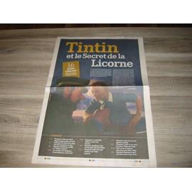La Province 2011 - Tintin Et Le Secret De La Licorne - Collector De 16 Pages.