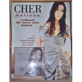 """CHER """"Believe"""" PLV Géante Officielle (H80cm x L60cm) d'époque"""