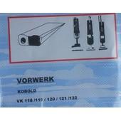 5 Sacs Aspirateur Vorwerk Vk 118/119/120/121/122 - Et 340