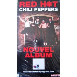 RED HOT CHILI PEPPERS PLAQUETTE PLV NOUVEL ALBUM